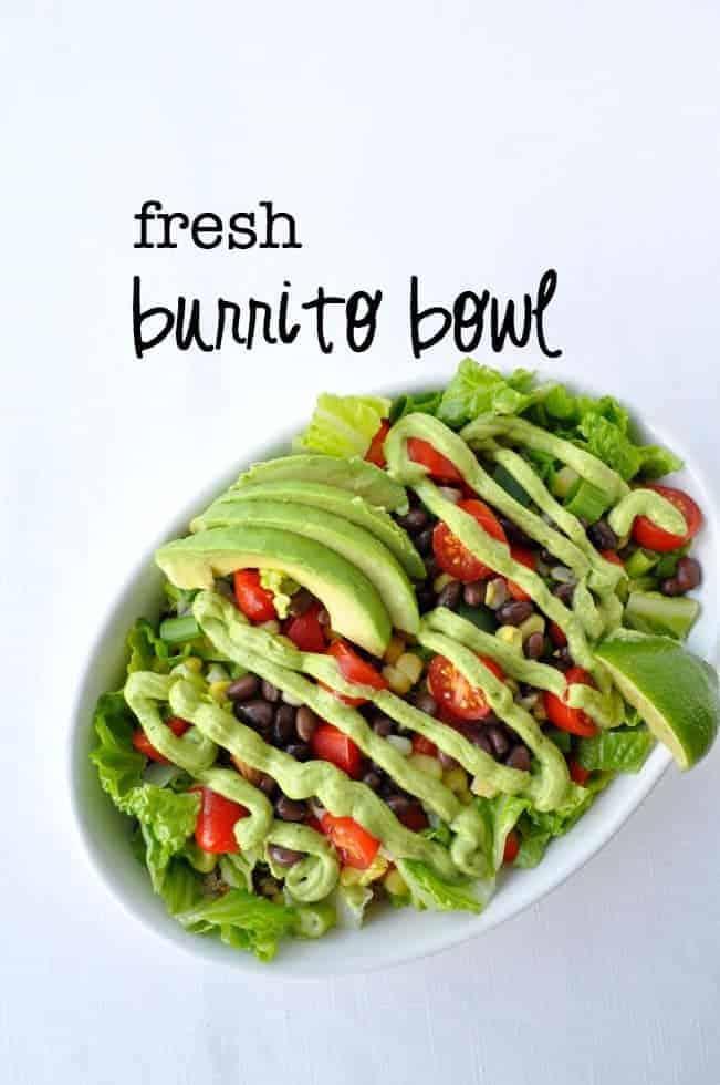 Fresh Burrito Bowl with title