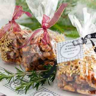 Sweet and Spicy Rosemary Nuts. These make a great hostess or holiday gift!