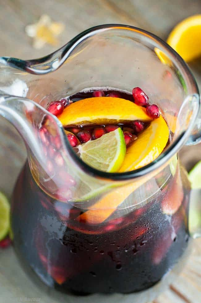 Red Wine Citrus Pomegranate Sangria
