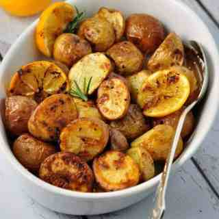 Crispy Meyer Lemon Potatoes, easiest gourmet potatoes you'll ever make. |www.flavourandsavour.com