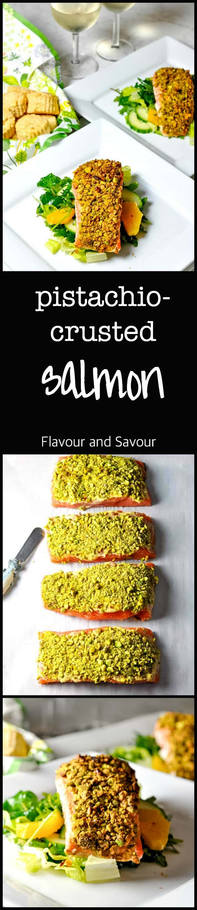 Add some flavour and crunch to your next salmon meal with this super easy Pistachio Crusted Salmon. Lots of lemon and mustard flavour!