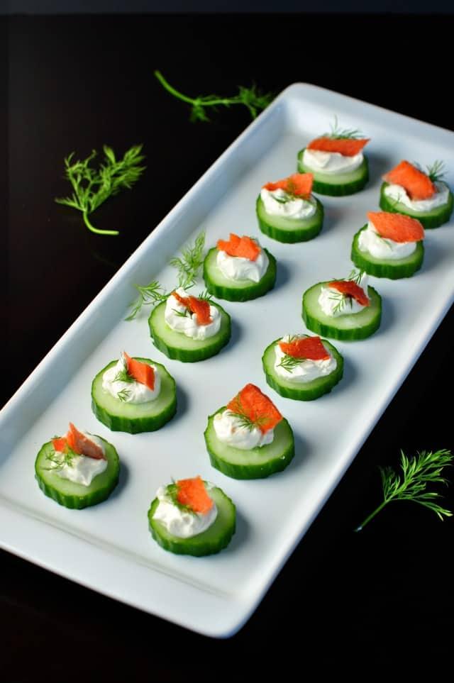 Smoked Salmon Cucumber Appetizer 1