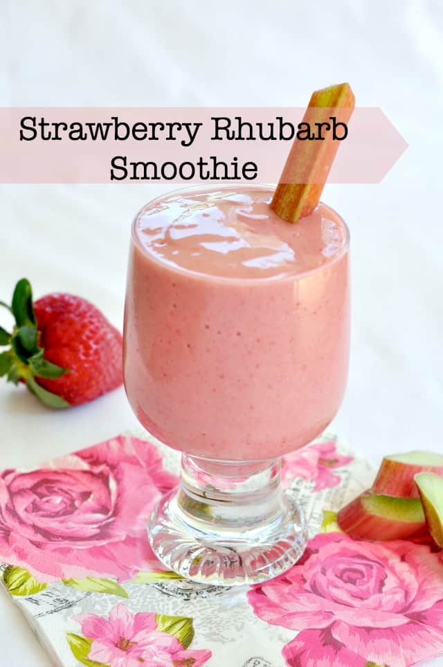 Strawberry Rhubarb Smoothie.