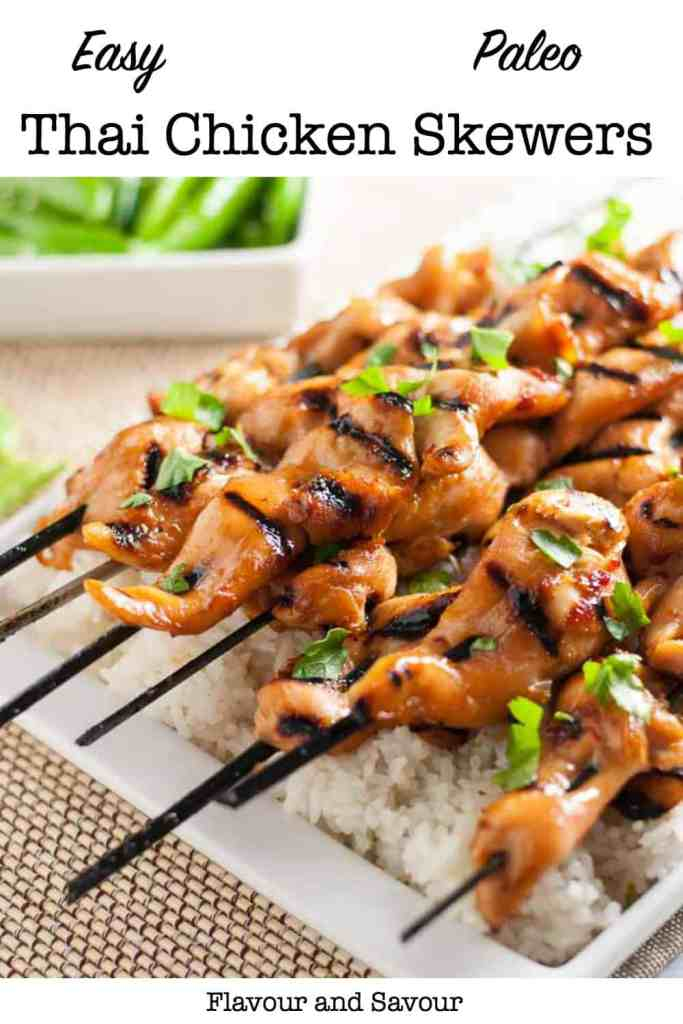 Pin for Easy Thai Chicken Skewers