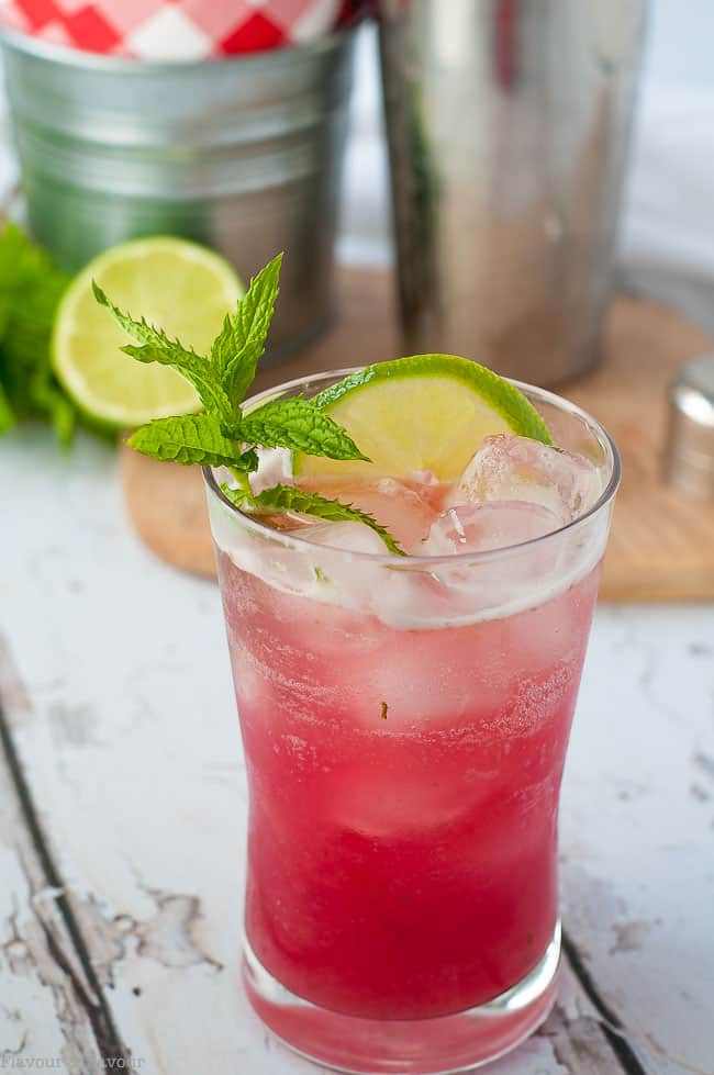 Entertain your friends with a Rhubarb Mint Mojito!