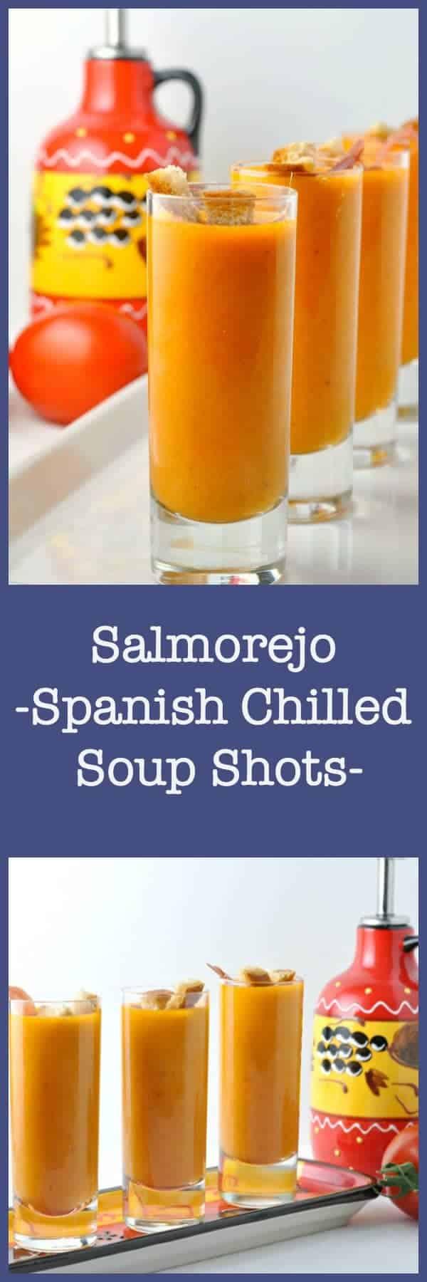 Soup Shots for summer! Spanish chilled soup |www.flavourandsavour.com