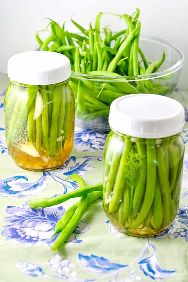 Quick Refrigerator Pickled Beans.If you've never made pickles before, these refrigerator pickled beans are a good place to start. They are easy to prepare and need no special equipment. They are great just for snacking right from the jar, or as a side dish at a barbecue or summer party. |www.flavourandsavour.com