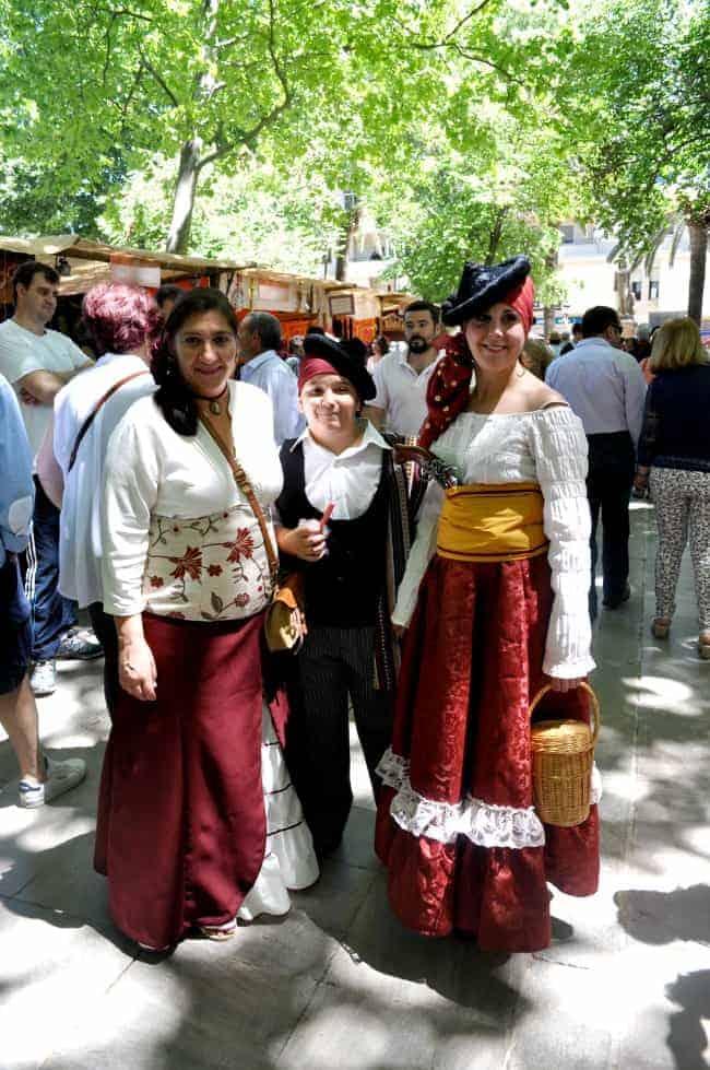 Spanish Spiced Almonds (almendras fritas) at a festival in Ronda, Andalusia