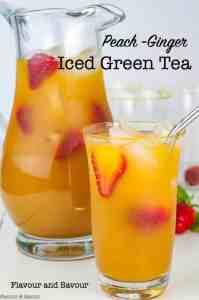 Peach Ginger Iced Tea title