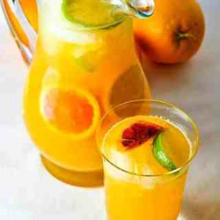 Citrus Sangria with Triple Sec. Easy to make fruity sangria made with oranges, lemons, blood oranges and lime. A crowd-pleaser! |www.flavourandsavour.com