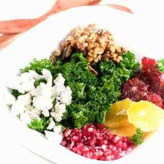 Fit and Healthy Kale Salad with Superfoods