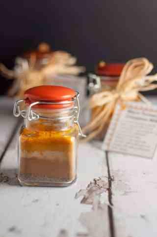 Recipe, instructions and printable tags to make Warm Cinnamon Turmeric Milk.