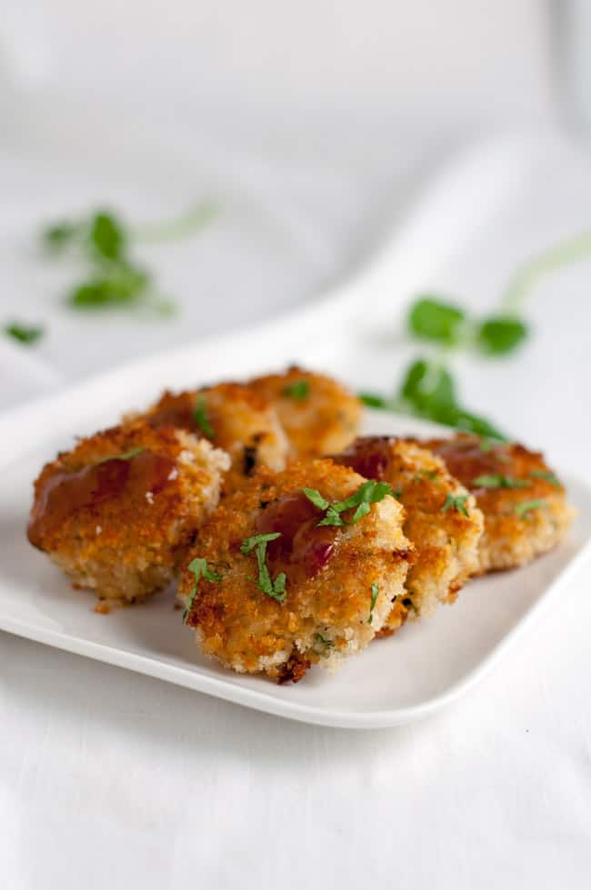 Spicy Bangkok Crab Cakes with Thai Dipping Sauce.