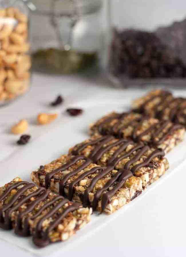 Healthy Paleo Cashew Cherry Snack Bars