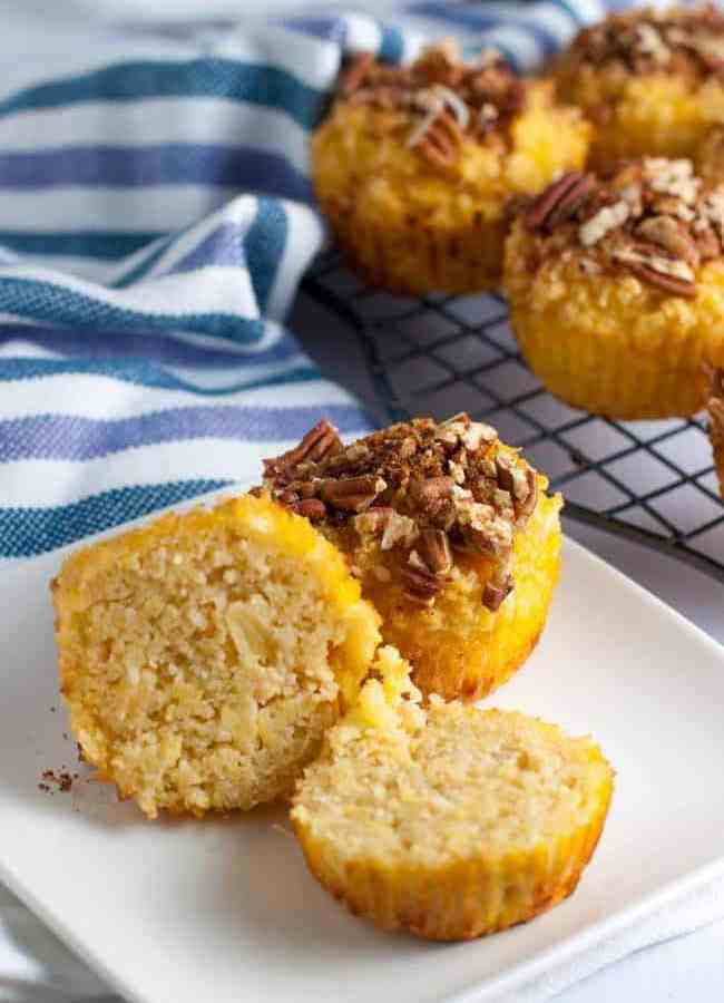 Pina Colada Muffins with Pecan Crumble