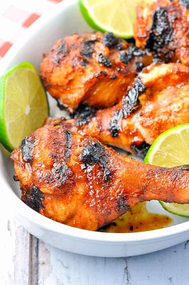 These 5 -Ingredient Chili Lime Drumsticks are super simple to make. Flavoured with a child-honey-lime marinade, they're always popular.