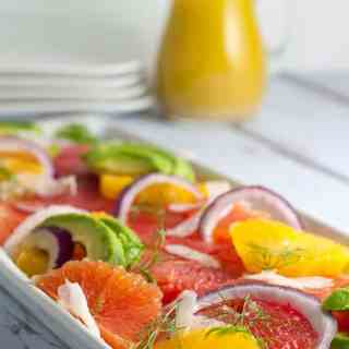 Cold-Buster Citrus Avocado Salad with Fennel. Banish the winter blues with this cheerful bright citrus salad, bursting with Vitamin C!  www.flavourandsavour.com
