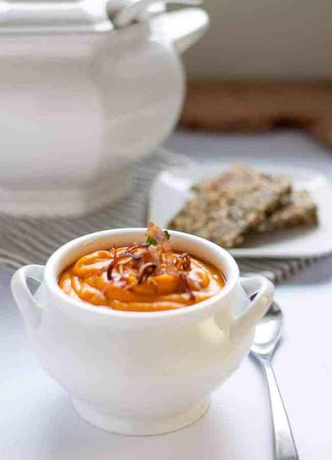 Slow Cooker Sweet Potato Turmeric Soup