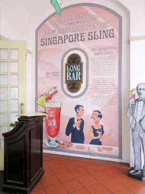 Long Bar Raffles Hotel, home of the Singapore Sling. Two Days in Singapore: Must-See Activities