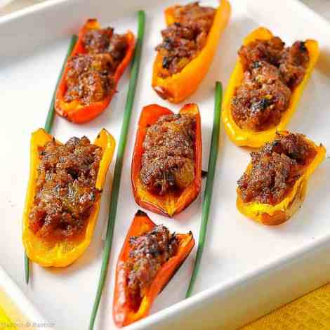 Spicy Stuffed Mini Peppers