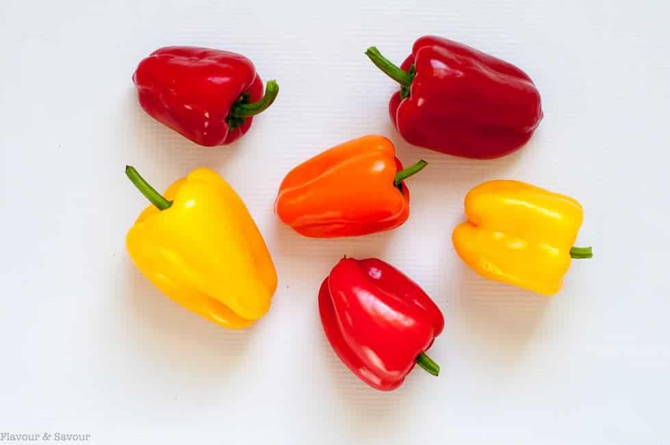 Mini peppers for Sun-dried Tomato, Artichoke and Cheese Stuffed Mini Peppers.