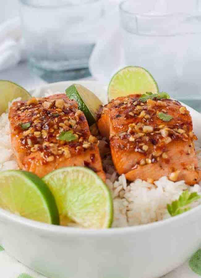 Easy Honey Chili Lime Glazed Salmon