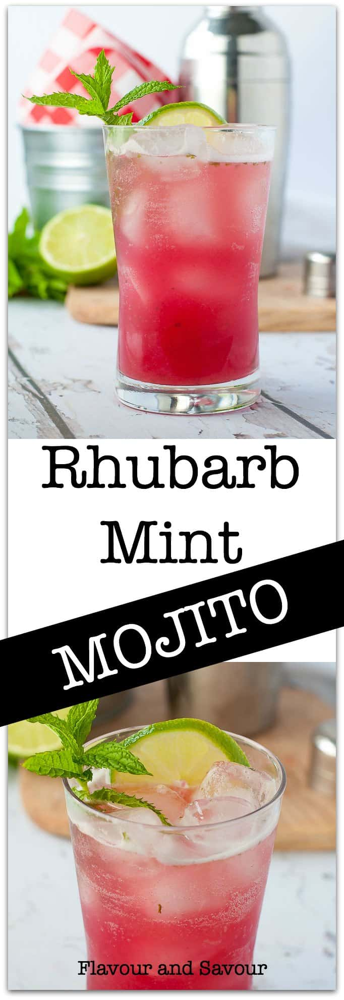 Welcome spring and summer weather with this Rhubarb Mint Mojito, made with fresh ingredients from your garden or farmer's market.