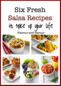 Six Fresh Salsa Recipes to Spice up Your Life. Lots of ideas for different salsa recipes to have as a dip or with fish, chicken or burgers!  www.flavourandsavour.com