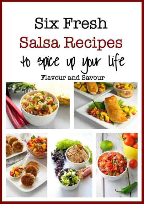 Six Fresh Salsa Recipes to Spice up Your Life. Lots of ideas for different salsa recipes to have as a dip or with fish, chicken or burgers! |www.flavourandsavour.com