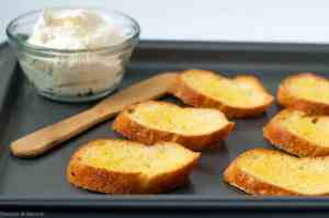 toasting crostini for appetizers
