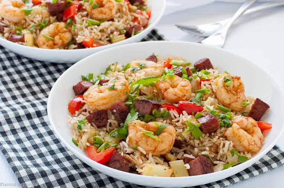 Easy cajun shrimp fried rice flavour and savour this hearty one pot 30 minute cajun shrimp fried rice brings the fabulous spicy ccuart Images