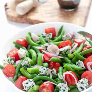Green Bean Blue Cheese Salad with Tomatoes
