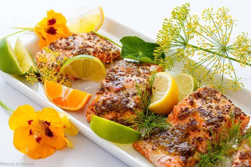 Honey Dijon Glazed Salmon in foil |www.flavourandsavour.com