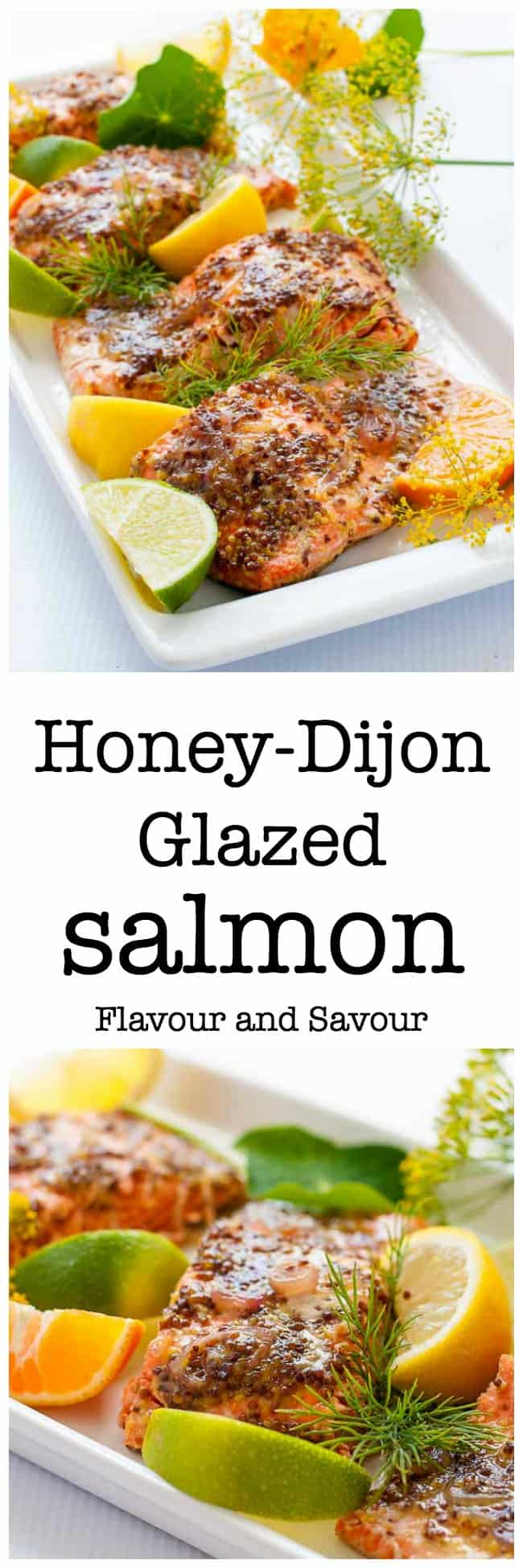 This Honey Dijon Glazed Salmon recipe has been a family favourite for years. It's quick and easy to make. Cooked in foil, you can grill it or bake it. Paleo and gluten-free. |www.flavourandsavour.com