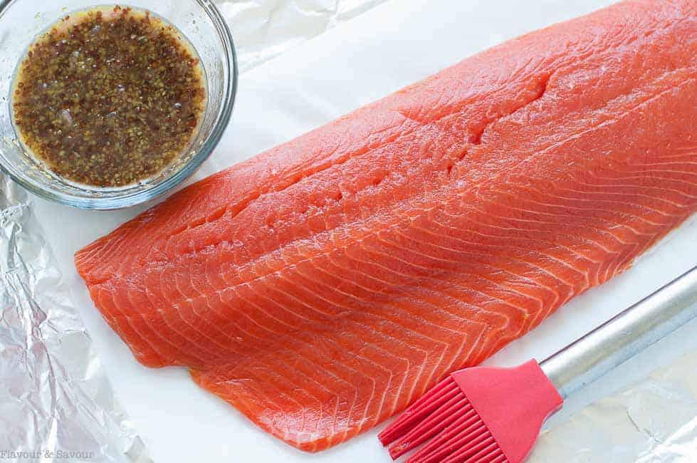 Preparing Honey-Dijon Glazed Salmon