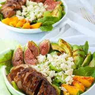 Balsamic Glazed Chicken Salad with Fresh Figs