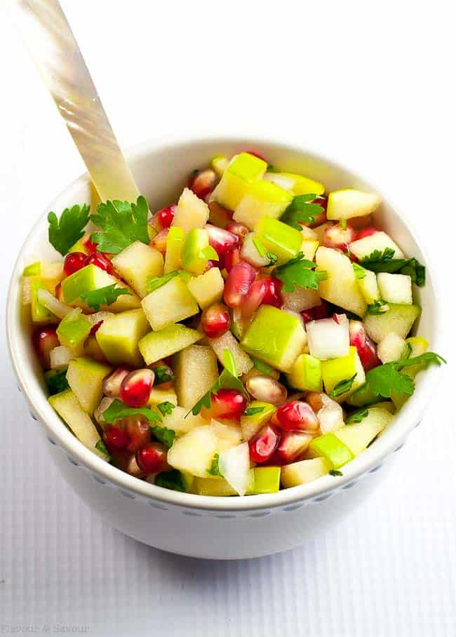 Apple Pomegrante Salsa for Goat Cheese Log with Apple Pomegranate Salsa