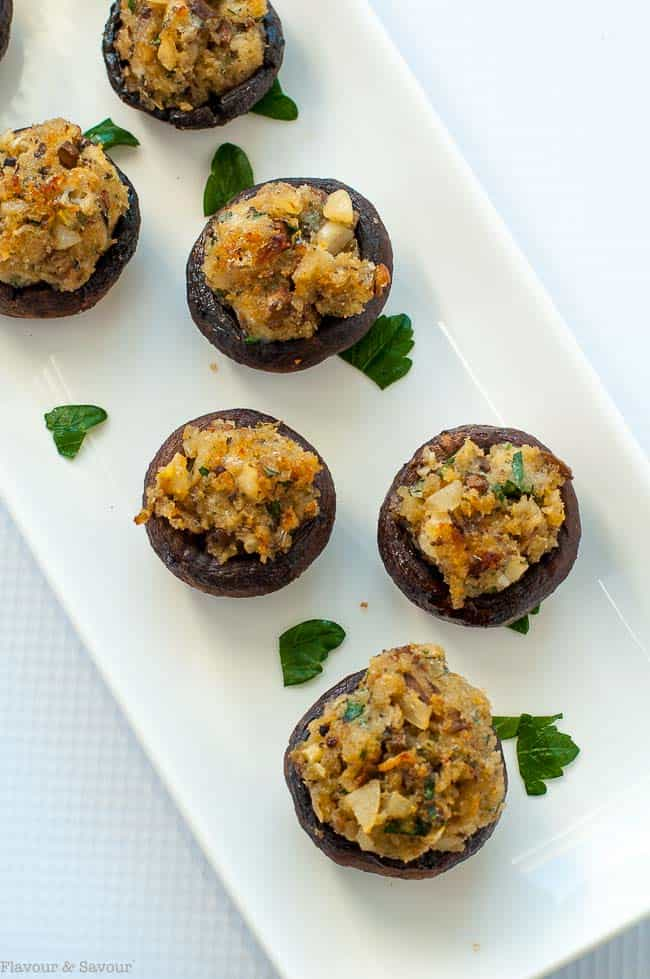 Garlic Lovers' Blue Cheese Stuffed Mushrooms