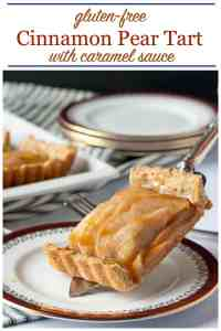 Pinterest PIn for Gluten-Free Cinnamon Pear Tart