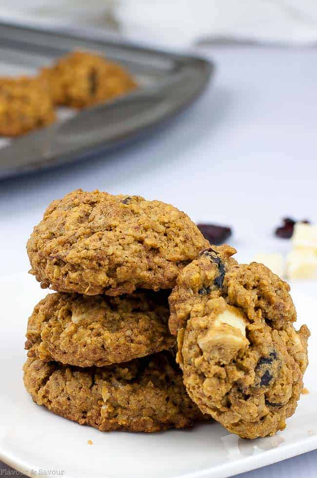 Cranberry Pecan White Chocolate Oatmeal Cookies