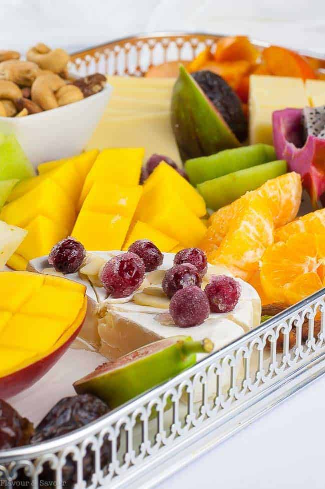 Tropical Fruit, Nut and Cheese Platter