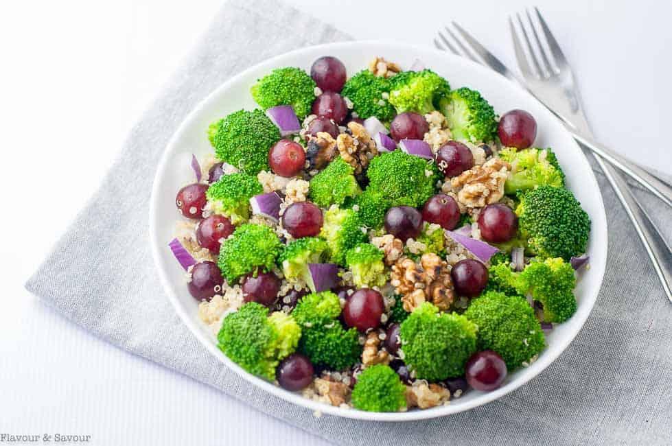 Broccoli Quinoa Salad with Sesame Miso Dressing