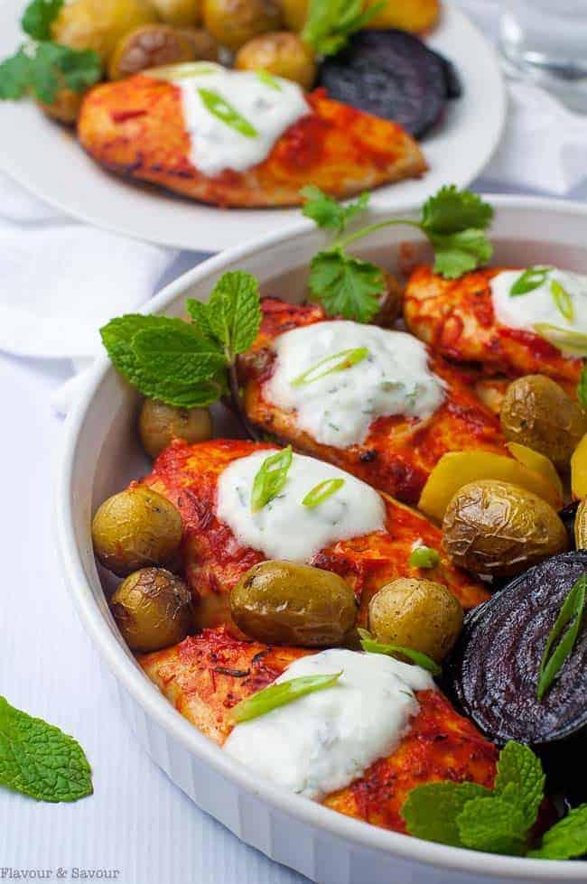 Harissa Chicken Sheet Pan Supper