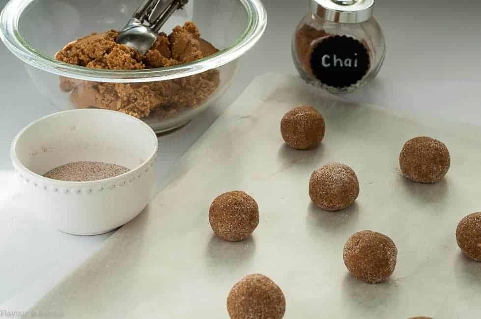 Preparing Gluten-Free Chai Spiced Snickerdoodles