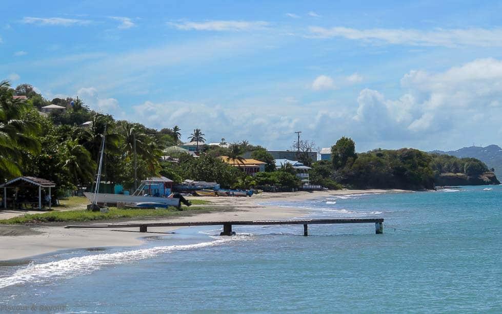 Petite Martinique Beach and Dinghy Dock