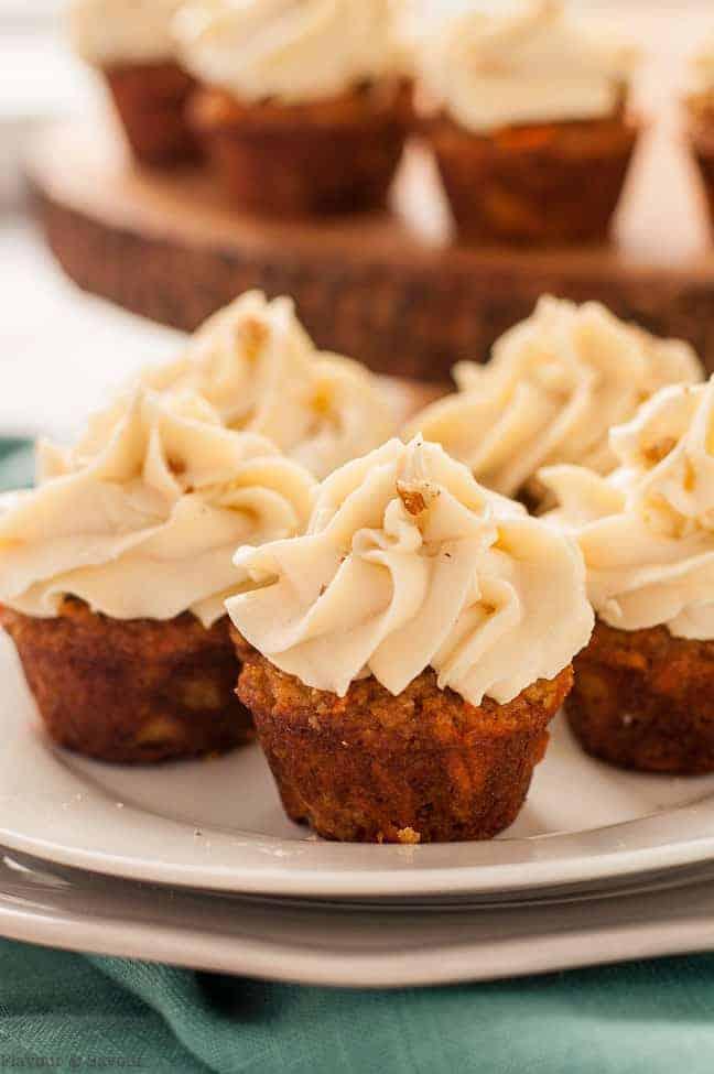 Mini Carrot Cake Cupcakes With Pineapple