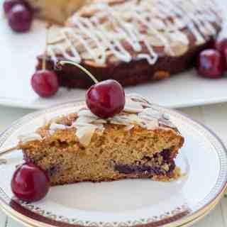 Flourless Cherry Almond Ricotta Cake