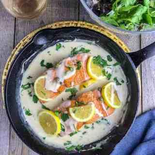 Creamy Lemon Salmon Piccata