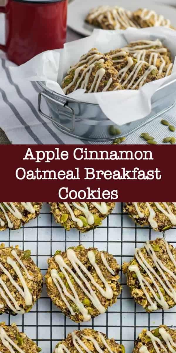 Apple Cinnamon Oatmeal Breakfast Cookies