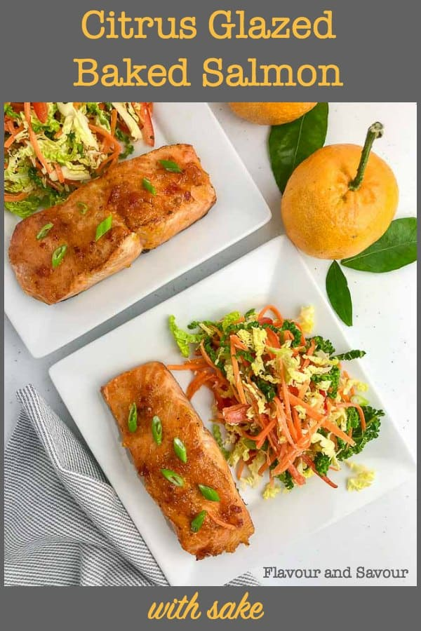 Citrus Glazed Baked Salmon with Sake title